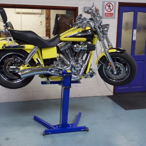 Harley Davidson on Big Blue Lift